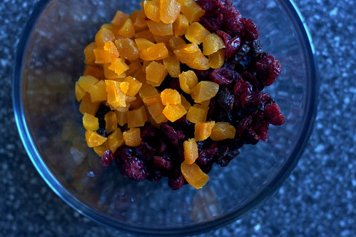 dried apricots, cranberries and raisins