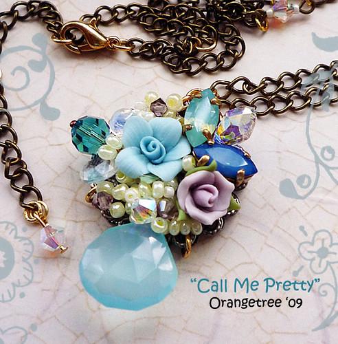 Call me pretty necklace