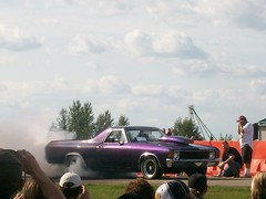 Chevrolet El Camino Burnout (blondygirl) Tags: auto car purple burnout sprucegrove chevroletelcamino burnoutcompetition cruisersofthepast grovecruise chevroletelcaminoburnout