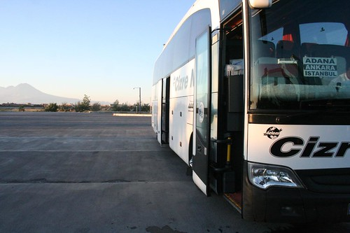 Bus from Cizre to Istanbul via Ankara (yes I know the bus sign says Adana, but it departed from Cizre. :) )