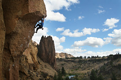 On Top of the World. (SaylaMarz) Tags: rockclimbing smithrock laborday labordayweekend uofoclimbing chainreaction512c