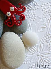 (Gálago) Tags: broche handmade stones brooch fimo clay octopus piedras pulpo polymer pulpos hechoamano gálago