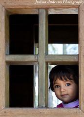Lucia in the Window (JoshuaAndrewsPhoto) Tags: door wood light window girl daylight wooden ecuador natural framed sanjose treehouse kit xsi hosteria