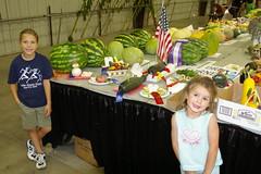 Vegetable creations (zaui) Tags: sisters utah redribbon statefair abigail amelia 2009 blueribbon saltlakecityutah utahstatefair