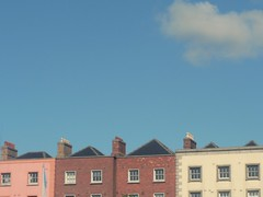 houses dublin (miss sundress) Tags: city pink blue roof red summer sky dublin sun house cute window sunshine clouds town day colours walk row liffey colourfull