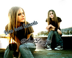 2004 - Under My Skin Album Shoot (Stand in the rain~) Tags: avril lavigne