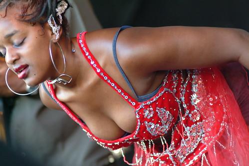 Ebony cleavage