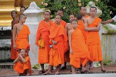(Kat wishes) Tags: orange monk buddhism monks laos oranje boeddisme