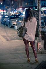 If ya got it... (kitch) Tags: street nyc newyorkcity vacation signs newyork hair bag graffiti neon streetlamp purse heels sequins leggings