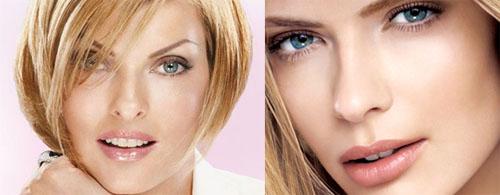 Fotografías típicas de los maquillajes exagerados de la publicidad