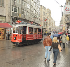 Istiklal Avenue, Istanbul, Turkey, October 4, 2009 (Ivan S. Abrams) Tags: dog cats dogs cat turkey tdi boats soldier army boat nikon ship muslim islam ships kitty tram istanbul mosque animalrescue kitties imf masstransit lightrail streetcar trams tramway topkapi taksim galatasaray dolmabahce istiklal bosphorus worldbank humane trolleycar fenerbahce bombardier constantinople smrgsbord grandbazaar streetcars istanbuluniversity eminonu beyazit ortakoy trolleycars urbantransportation electricrailway turkisharmy d700 serkeci onlythebestare ivansabrams trainplanepro electricrailways ivanabrams cafedeniz abramsandmcdanielinternationallawandeconomicdiplomacy ivansabramsarizonaattorney ivansabramsbauniversityofpittsburghjduniversityofpittsburghllmuniversityofarizonainternationallawyer