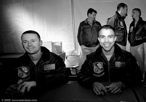 Maj Brendan Burks, Capt Edward Jorge, C-130 Pilots