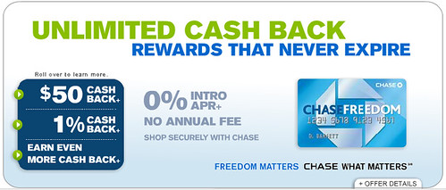 Chase Freedom Card $50 Bonus