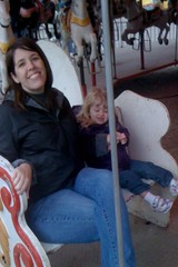 on the merry-go-round at the fair