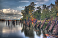 Our History (janusz l) Tags: longexposure autumn fall colors vancouver creek river geotagged bc slow fraser mapleridge kanaka hdr janusz leszczynski ourhistory 001631 geo:lat=49200018 geo:lon=122585269