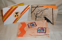 3 Handmade Books - Great for Encouraging Kids to Write! (Pictures by Ann) Tags: world autumn friends orange brown moon bird fall halloween nature birds yellow by paper children book education sticker hand friendship handmade stamps small stickers waldorf creative harvest books stamp collection cardboard owl learning ribbon geography crow lesson etsy montessori outline stories homeschool learn postage owls homeschooling 3x5 penpal handson shortstories childsize madebyhand encouraging writng unschool friendshipbooks unschooling friendshipbook howtowrite harvestmoonbyhand