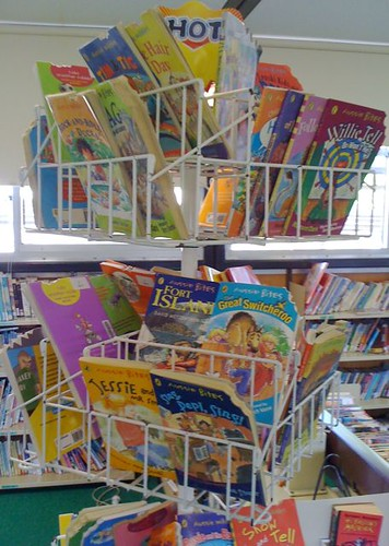 """Hot"" rack of ""Aussie bites"" books"