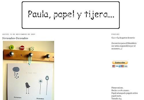 Paula, papel y tijera