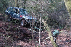 Challenge Range Rover in action 1 (BatteredRangey) Tags: classic mud offroad 4x4 landrover winch rangerover challenge greenlaning winchchallenge