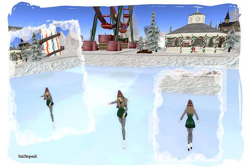 bax iceskater - winterstock