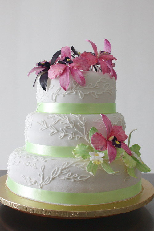 wedding cake flowers 3