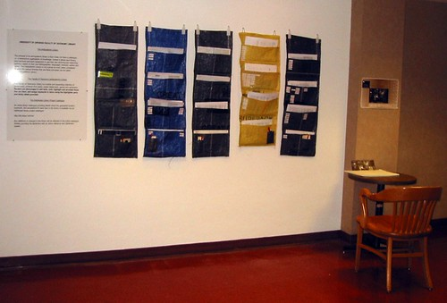 University of Openess, Faculty of Taxonomy. Installation view, Banff Center Library for Database Imaginary exhibition.