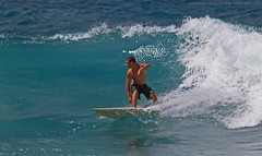 backside drive (bluewavechris) Tags: ocean blue sea sun beach water fun hawaii marine surf wave maui foam surfboard hookipa