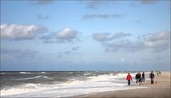 Take A Walk On The Wild Side (Dieter Müßler) Tags: storm beach clouds strand denmark waves horizon wolken northsea dänemark danmark nordsee horizont wellen sturm kuling