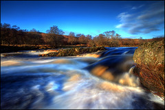 Helmsdale River (angus clyne) Tags: autumn trees winter red brown white colour tree fall water beautiful river scotland waterfall rocks heather bank falls rapids baren peat bleak bogs birch but moor sutherland bog banks peaty flikcr helmsdale clours brora top20longexposure flowcountry leefilters helmsdaleriver