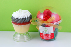 Christmas Reindeer Candy Corn Cupcake Soap