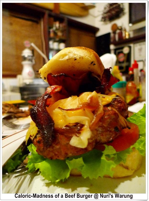 Beef Burger @ Nuri's Warung, Ubud, Bali