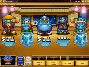 free Path of the Penguin gamble bonus game