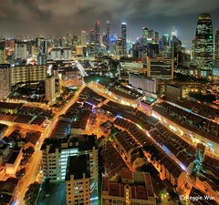 Lava flowing into Chinatown Singapore. (Reggie Wan) Tags: street city urban skyline night singapore southeastasia chinatown aerialview cbd soe birdseyeview hdr singaporeskyline outrampark impressedbeauty thepinnacleduxton sonya700 pinnacleduxton top20travelpix reggiewan pinnacleatduxton 50storey