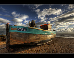 Our Lady of Hastings (Paul Merry) Tags: blue beach sussex boat fishing hastings fleet winch hdr ourlady woode cf6