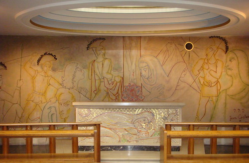 Jean Cocteau mural - Notre Dame de France church, London by TheAltruist.