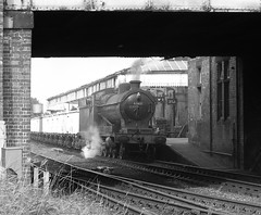 Great Central Railway Loughborough Leicestershire 30thSeptember 2004 (loose_grip_99) Tags: railroad 2004 station photo blackwhite noiretblanc leicestershire engine railway steam locomotive freight loughborough o4 charter greatcentral tain britishrailways lner gcr uksteam 63601 gassteam
