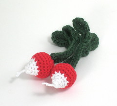 Radishes (Grasshopper Handmade) Tags: food toy radishes handmade crochet wyatt playfood grasshopperhandmade