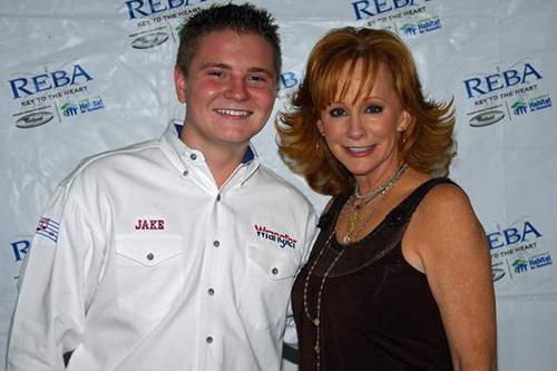 Jacob Nelson and Reba McIntire