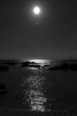 Sea & sun (Aiducha) Tags: blackandwhite blancoynegro sunbeams reflection reflejo rayosdesol mar sol sun sea light darkness bnw beach nikon vigo galicia samil
