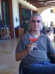 Greg at Check In (Stef Sull) Tags: beach mexico cabo hilton margarita cabosanlucas iphone gregrewis