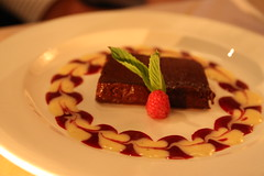 Chocolate Terrine (Renée S. Suen) Tags: toronto french dessert sweet chocolate treats mint raspberry treat bradclark leslieville renéedinesout farebistro
