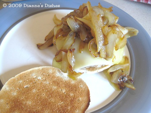 Old Bay Chicken Flat Bread Burgers With Caramelized Onions: Ready to Top