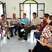 Discutiendo el tema - iz a der - Nadia Ceballos, Pina Rivera y Raúl Espinoza, Alma Castañeda y Salvador Lozano, Abel Ortiz y Betty Amezcua, Guille Peña