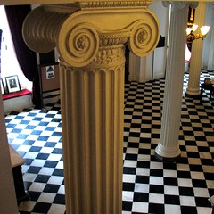 lobby  columns (origamidon) Tags: usa architecture square vermont columns lobby photowalk marble sq checkerboard 2009 vt montpelier ionic capitolbuilding fluted washingtoncounty origamidon donshall montpeliervermontusa worldwidephotowalk batseyeview lobbycolumns