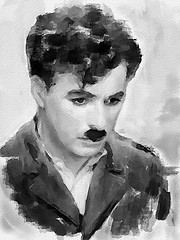 #238 Charlie (piker77) Tags: portrait painterly man celebrity art face digital photoshop watercolor painting movie interesting media natural retrato aquarelle digitale manipulation simulation peinture charlie illusion virtual watercolour actor transparent acuarela tablet technique wacom ritratto stylized pintura portre  imitation chaplin  aquarela aquarell emulation malerei pittura virtuale virtuel naturalmedia bildnis aplusphoto    piker77wc arthystorybrush