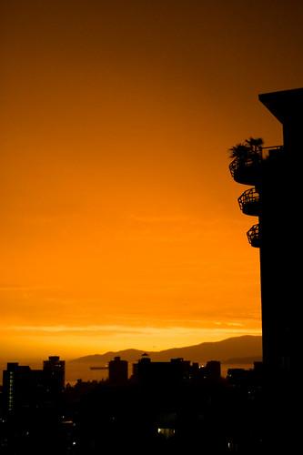Ciel orange sur Vancouver