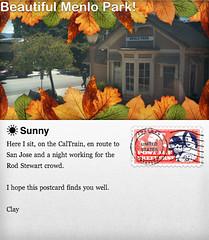Postcard: On CalTrain