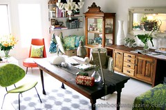 Eclectic Dining room (decorology) Tags: wallpaper green notebook au entryway greenroom greenpaint dominomagazine modernretro greendecor earthpalettes