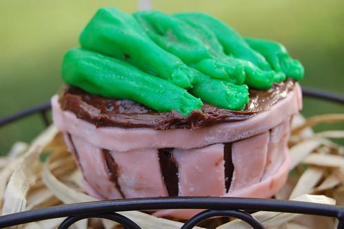 Vegan Chocolate Zucchini Cupcake