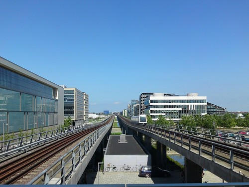 Metro: View from Ørestad Station